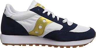 Saucony Womens Jazz Original Vitnage Low-Top Sneakers, White (Blanco/Azul Marino Y Dorado 92), 3.5 UK