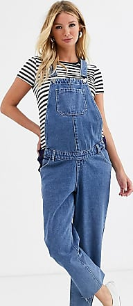 Urban Bliss srelaxed straight leg dungarees-Blue