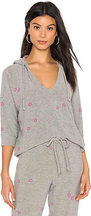 Chaser Pink Stars Hoodie in Gray