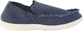 Crocs Mens Santa Cruz Loafers, Blue (Navy/Stucco), 10 UK