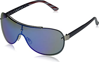 U.S.Polo Association U.S. Polo Assn. PA1031 Shield Sunglasses, Silver/Grey, 70 mm