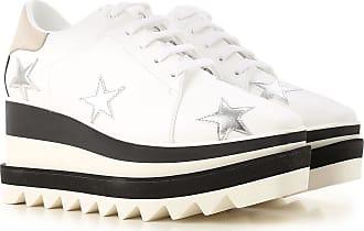 Stella McCartney Chaussure à Talon Compensé Femme Pas cher en Soldes, Blanc,  Cuir Écologique ae5dd66b80ed