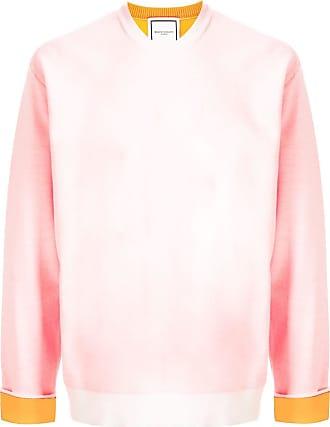 Wooyoungmi Suéter decote careca color block - Branco