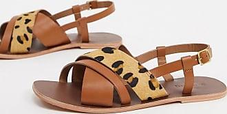 Warehouse multi strap animal sandals