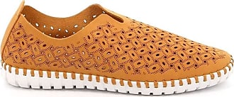 GrÜnland Magi 4913 Womens Perforated Slipon Nubuck Unlined Brown Size: 6 UK
