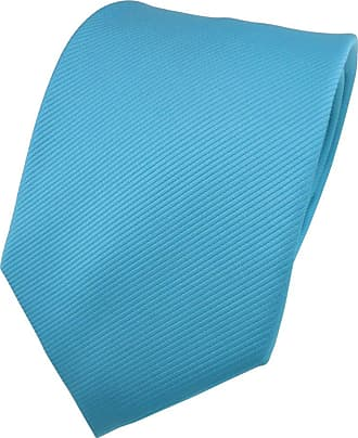 TigerTie Designer tie necktie turquoise blue all-one-color Rips