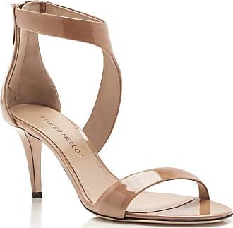 Tamara Mellon Prowess Beige Patent Sandals, Size - 35.5