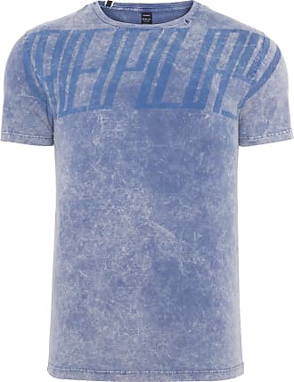 Replay CAMISETA MASCULINA FITTED MARBLED - AZUL