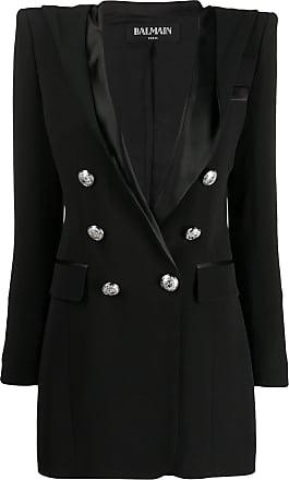 Balmain hooded blazer dress - Black