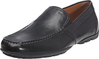 Geox Mens Monet Plain Vamp Slip-On Loafer,Black Leather,45 EU/12 M US
