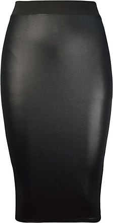 The Celebrity Fashion Womens Ladies Plain Midi Stretch Bodycon Party Skirt Office Works Sizes 8-22