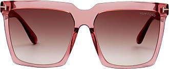 Tom Ford Eyewear Óculos de Sol Quadrado Rosé - Mulher - 58 US