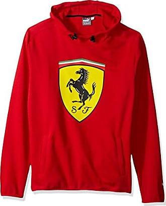 ca89396e4 Puma Mens Scuderia Ferrari Big Shield Hooded Sweatshirt, Rosso Corsa, S