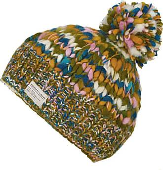 KuSan 100% Wool Bobble Beanie Hat (OneSize) PK1631 (Teal/Orange)