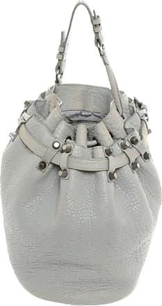 Alexander Wang gebraucht - Alexander Wang-Diego Bucket Bag Small aus Leder in Grau - Handtasche - Damen - Leder