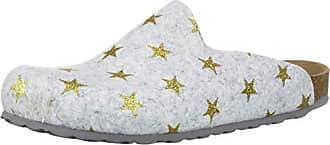 Bayton Womens Chatel Clog, ice/Gold Star, 38 Medium EU (8 US)