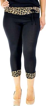 Nouvelle Collection Cropped Leopard Leggings Black 12-14