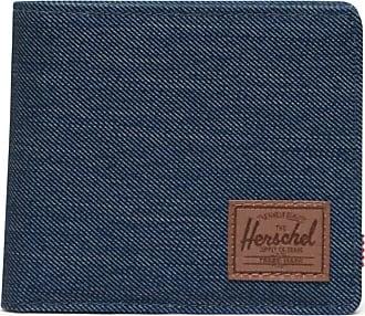 Herschel Herschel Roy Coin XL RFID Indigo Denim Crosshatch/Saddle Brown