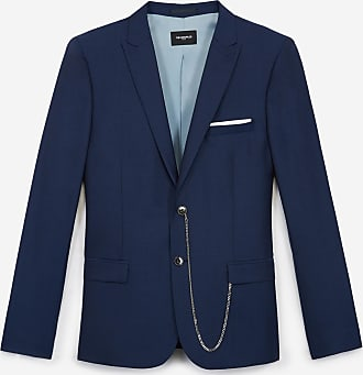 The Kooples Fitted formal navy blue jacket in wool - MEN