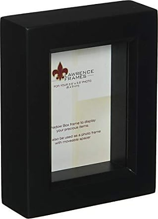 Lawrence Frames 795023 Black Wood Treasure Box Shadow Box Picture Frame, 2.5 by 3.5-Inch
