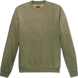 KAPITAL Oversized Loopback Cotton-jersey And Quilted Shell Sweatshirt - Green