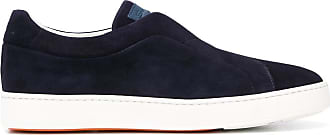 Santoni Tênis slip-on bicolor - Azul