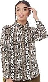 Brave Soul long sleeve satin feel snake print blouse