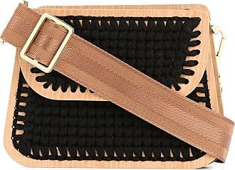0711 Monaco small woven clutch - Black