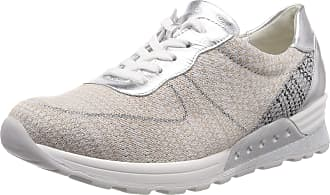 Waldläufer Womens Sneaker, Multicoloured Hachi Knitted 2 Marakesh Beige Silver 060, 4.5 UK
