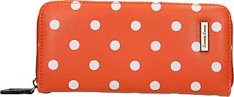 Swankyswans Bella Polka Dot Long Zip around Wallet Orange