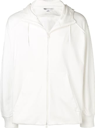 Yohji Yamamoto printed hooded jacket - White