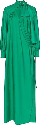 Rosie Assoulin Vestido longo transpassado - Verde