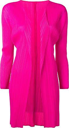 Issey Miyake pleated cardi-coat - Pink
