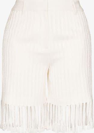 Xu Zhi Xu Zhi Womens White Fringed Shorts