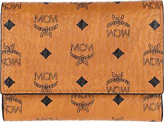 4cd6a9d84d1d0 MCM Visetos Original Flap Wallet Tri-Fold Small Cognac Portemonnaie cognac