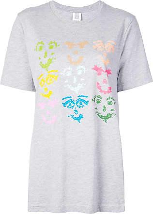 Rosie Assoulin Camiseta com estampa gráfica - Cinza