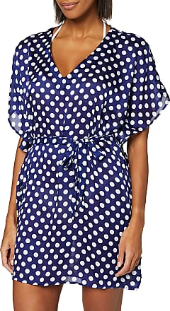 Pour Moi? Womens Starboard Kaftan Cover-Up, Blue (Navy/Red), Small