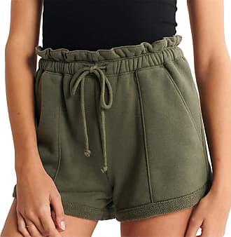 QIYUN.Z 2020 Summer Loose Shorts Drawstring Shorts Comfy Solid Casual Shorts Army Green XL