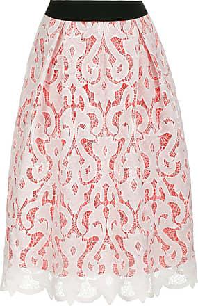 Madeleine Spitzenrock mit Kontrastfutter in rosa MADELEINE Gr 17, weiß für Damen. Polyester. Waschbar