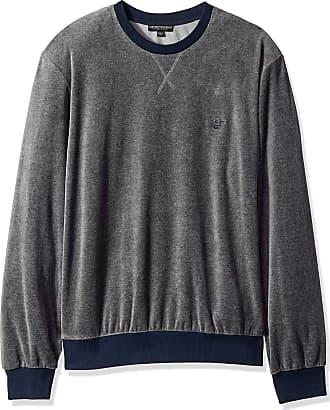 b7cb3b91667e11 Emporio Armani Mens Chenille Sweater Pullover, Dark Gray Melange, XL