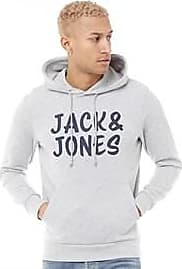 Jack & Jones brushback fleece overhead hoody