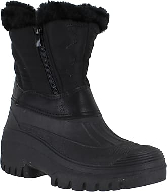 Groundwork GroundWork LS725 Womens Muckers Mukker Stable Winter Waterproof Lined Snow Boots UK6 Black-Double Zip