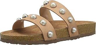 Steve Madden Womens Asset Slide Sandal, Natural, 6 M US