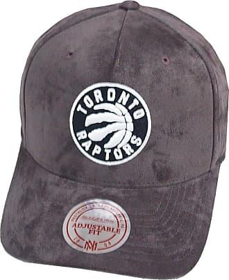 07b3ea143d0bd Mitchell   Ness Men Caps Snapback Cap 110 Curved NBA Torronto Raptors Suede  Grey Adjustable