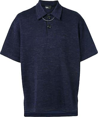 Kolor chain-detail polo shirt - Blue