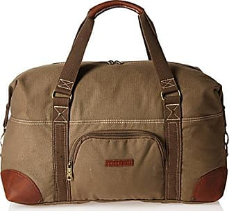 Perry Ellis 22 Carry-on Weekender Canvas Duffel Bag, Olive, One Size
