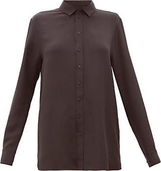 Wardrobe.NYC Wardrobe.nyc - Release 01 Crepe-de-chine Blouse - Womens - Black
