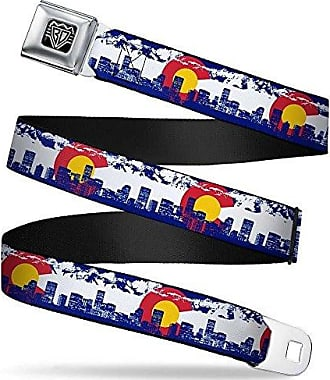 1.5 Wide-32-52 Inches Heart Blue//White//red//Yellow Buckle-Down Unisex-Adults Seatbelt Belt Colorado XL