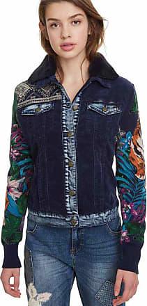 Desigual Jaqueta Desigual Estampada Azul-Marinho