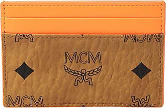 MCM Geonautic Visetos Card Case Mini (Cognac) Coin Purse